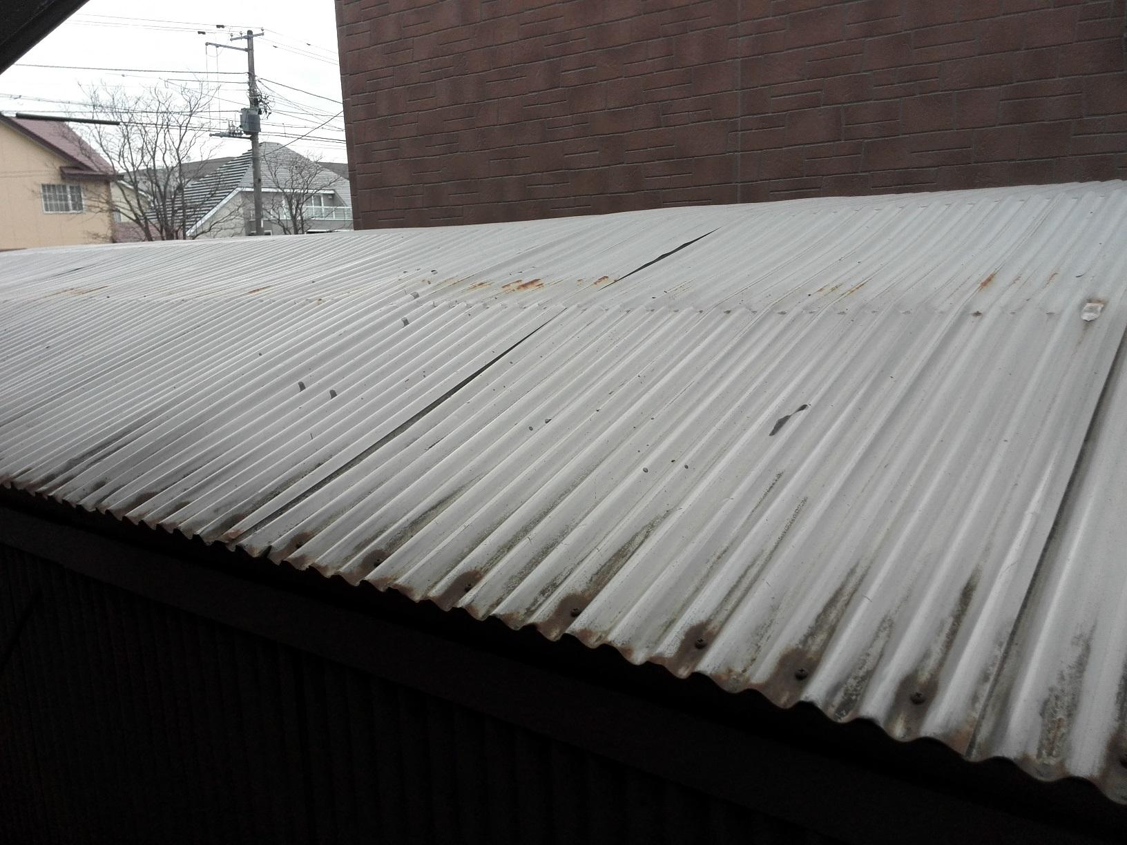 車庫塗装前2