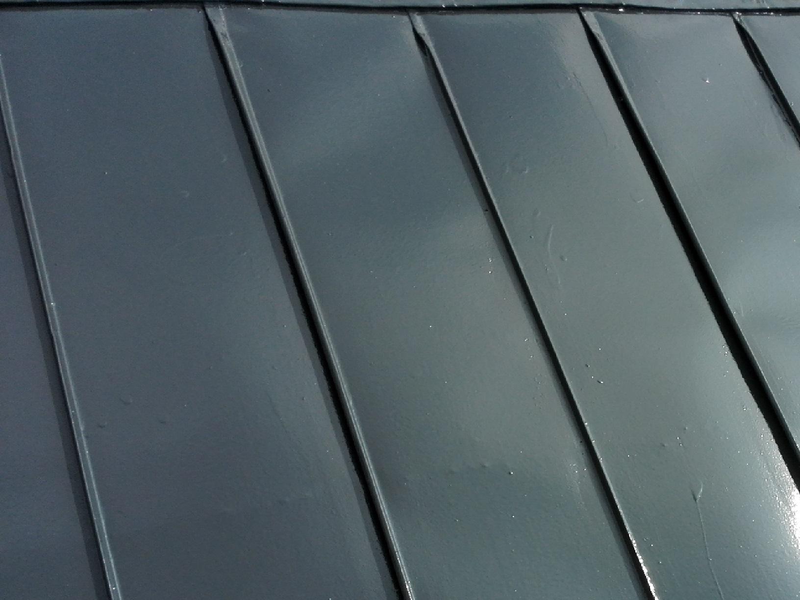 アパート 屋根・破風 上塗り3