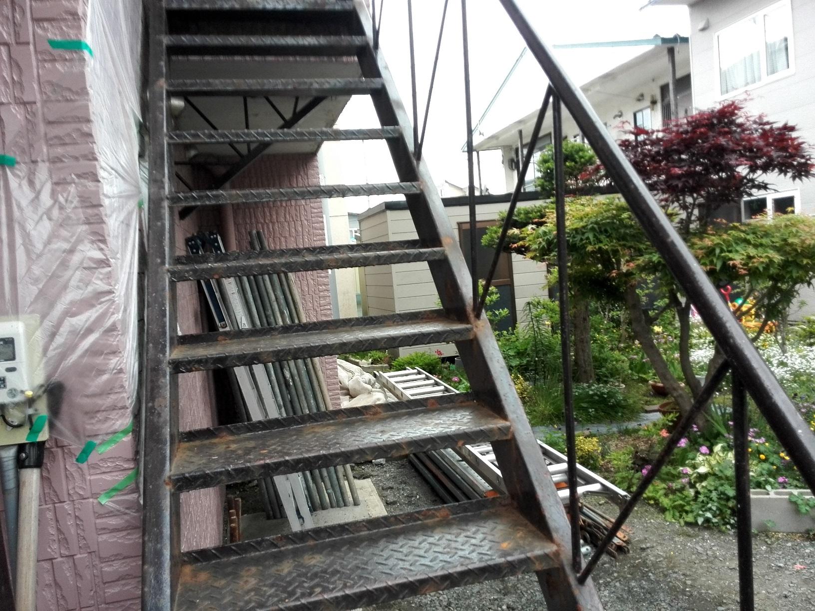 住宅 鉄骨階段1