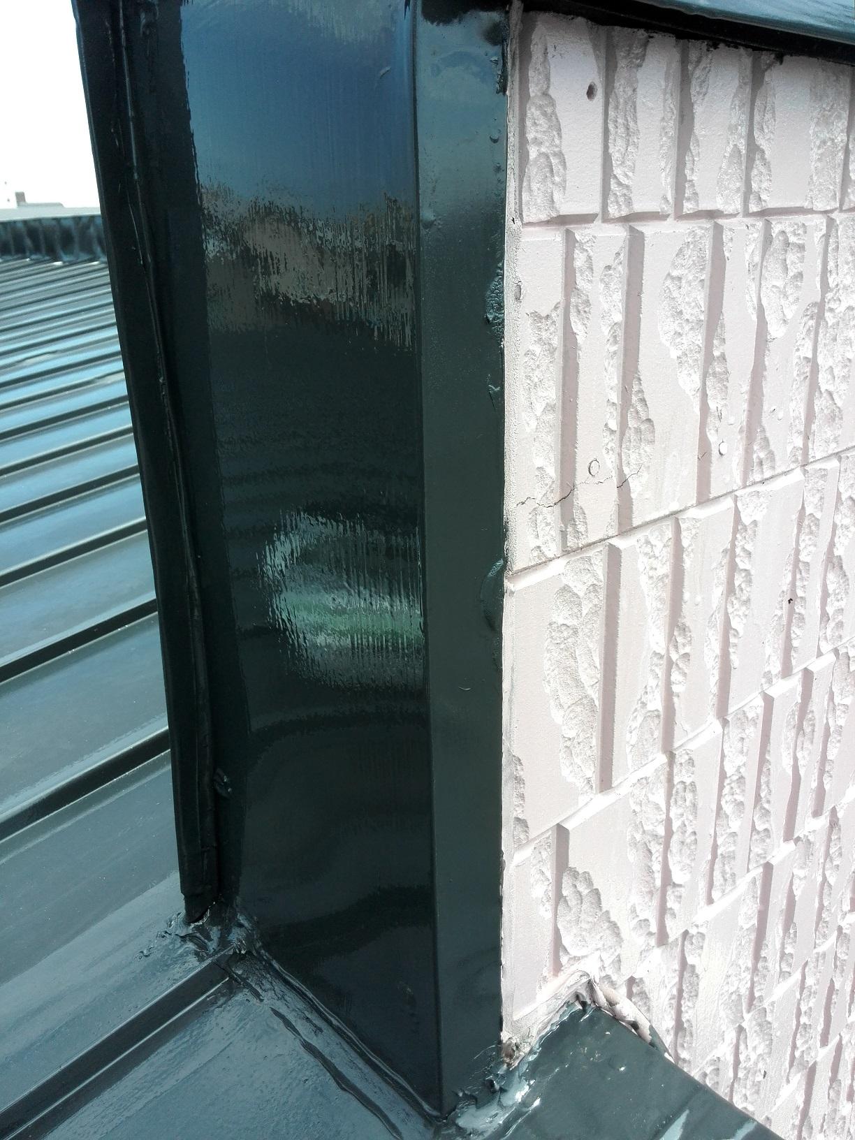 住宅 屋根・破風 上塗り1
