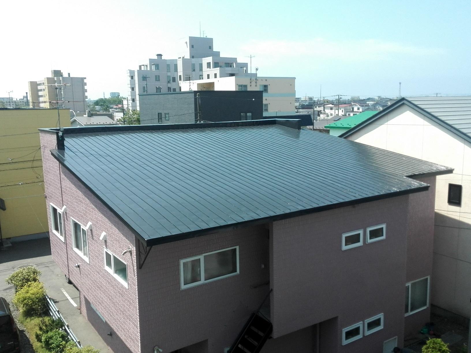 住宅 屋根・破風 上塗り4