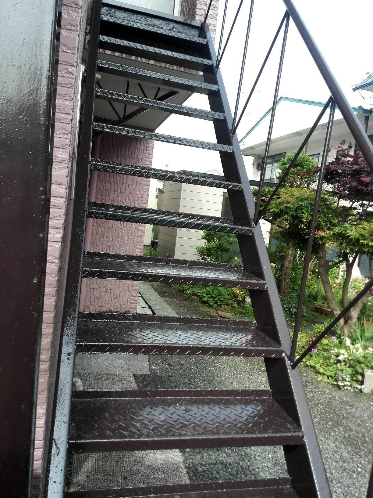 住宅 鉄骨階段 仕上がり