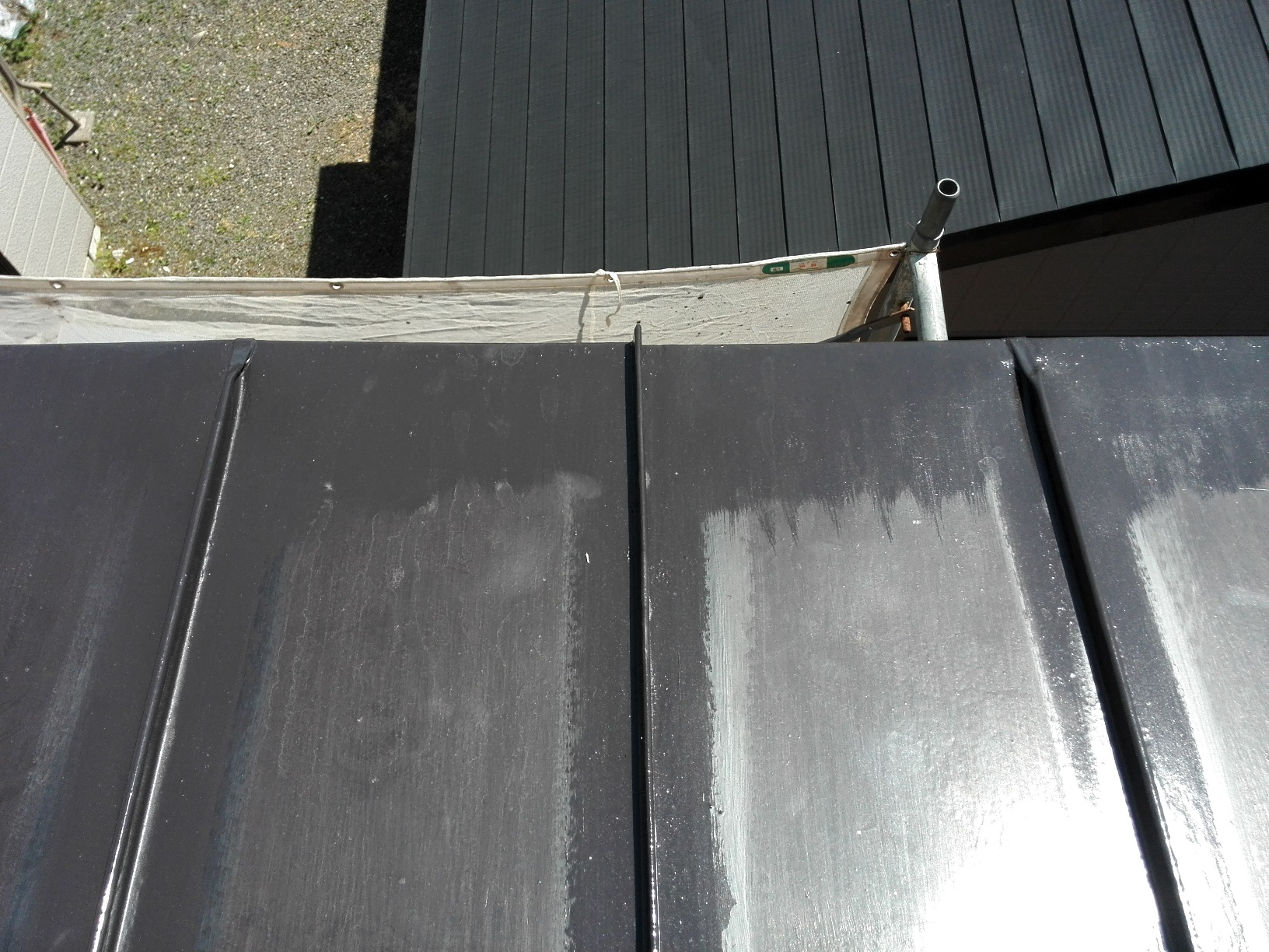 屋根 上塗り1回目3