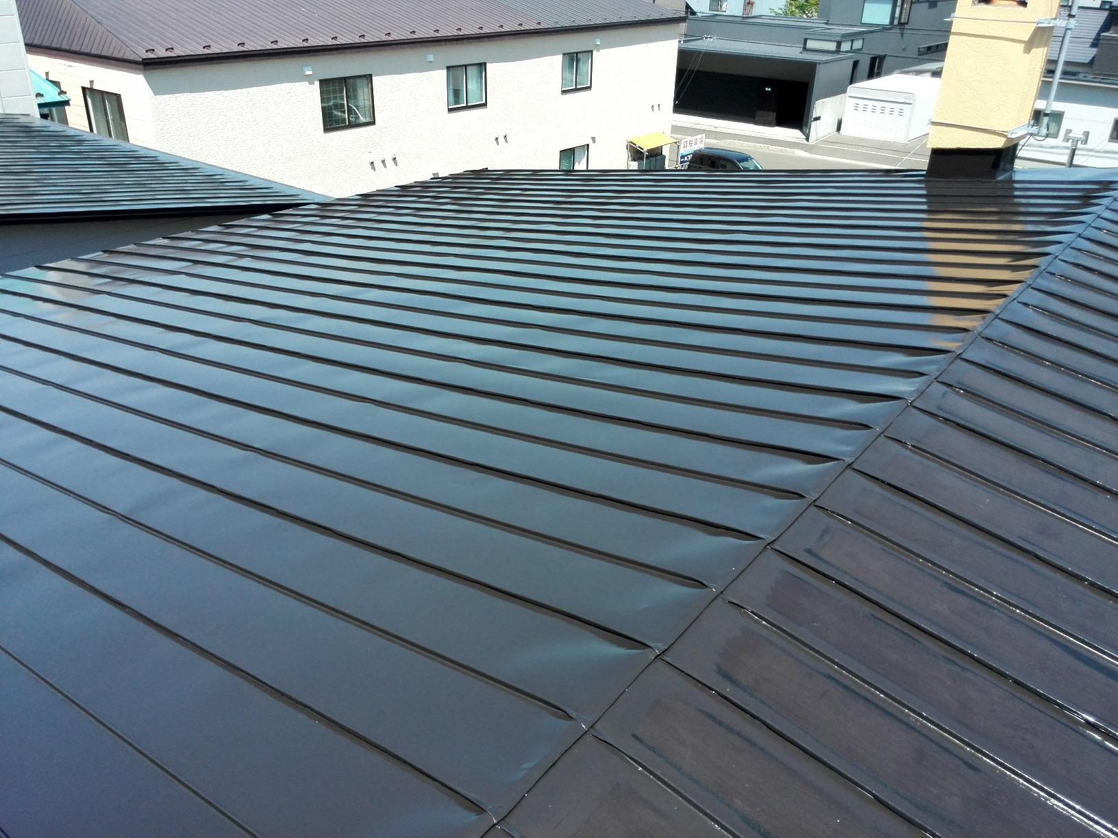 屋根 上塗り1回目4