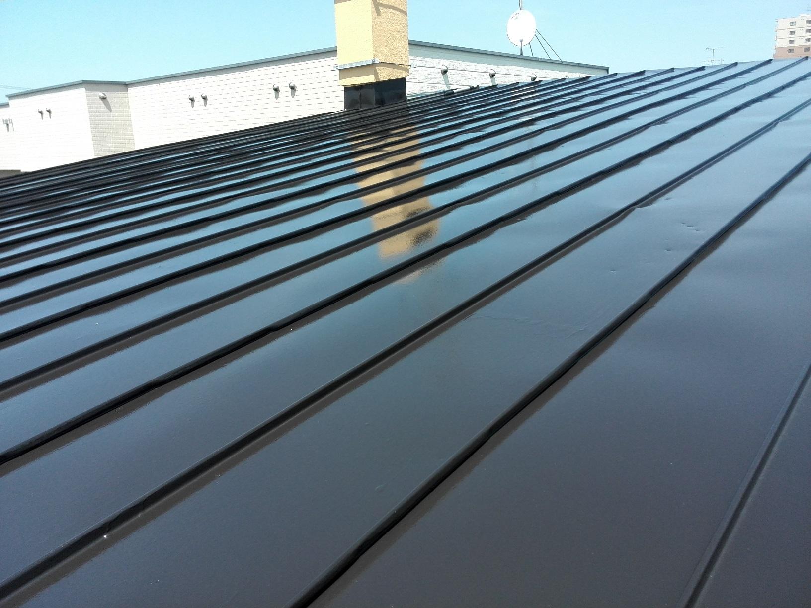 屋根 上塗り2回目2