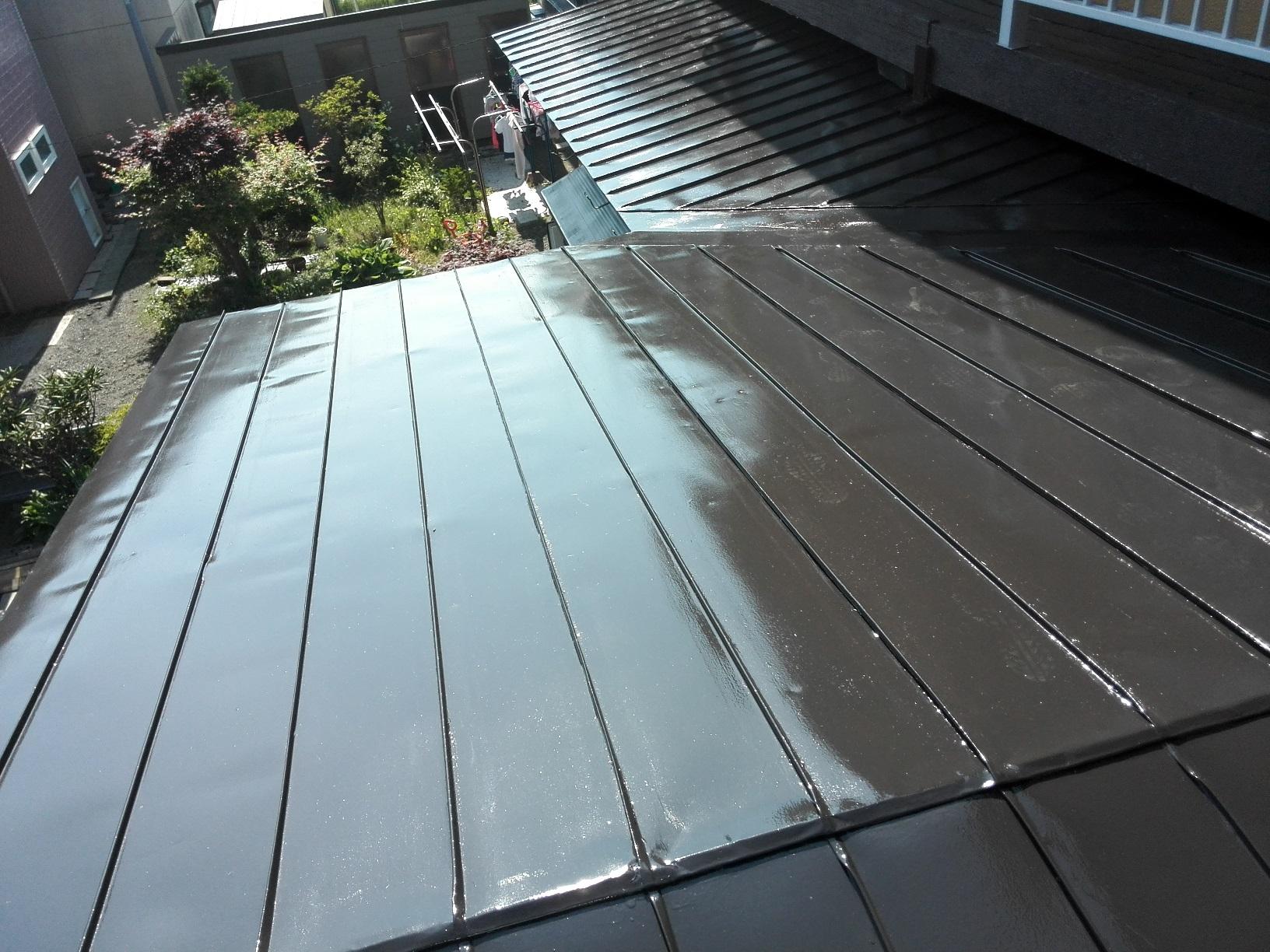 屋根 上塗り2回目3