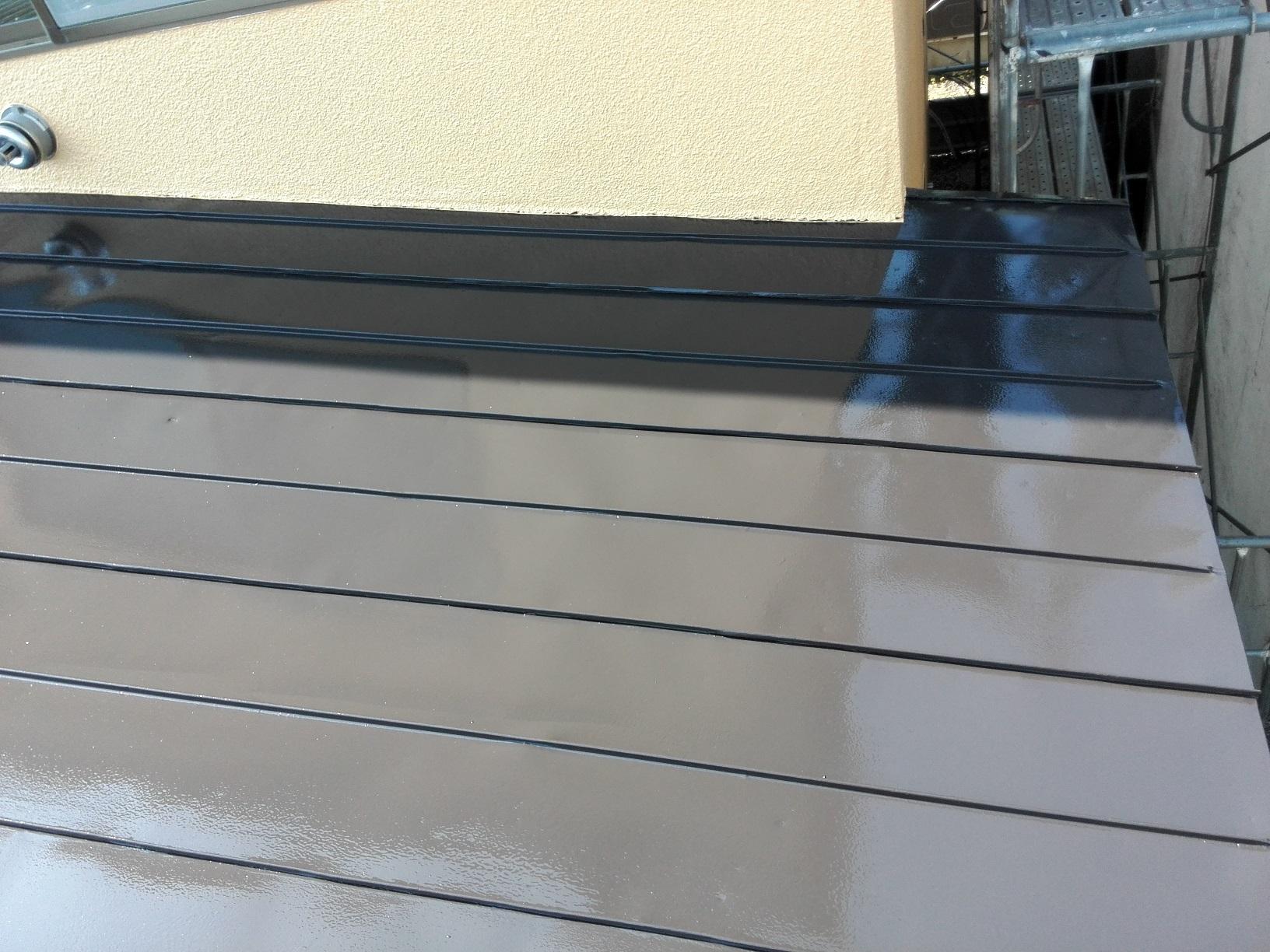 屋根 上塗り2回目4