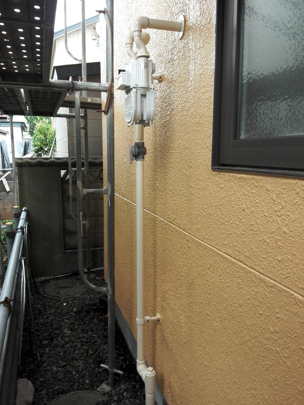 ガス管 塗装後2