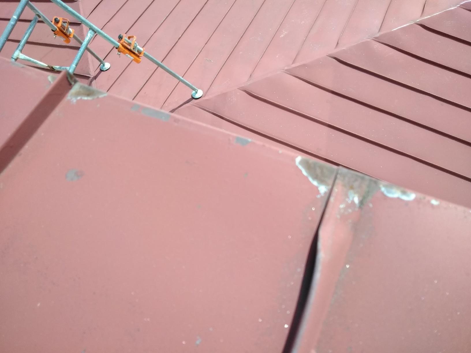 屋根ケレン7 裾の錆び