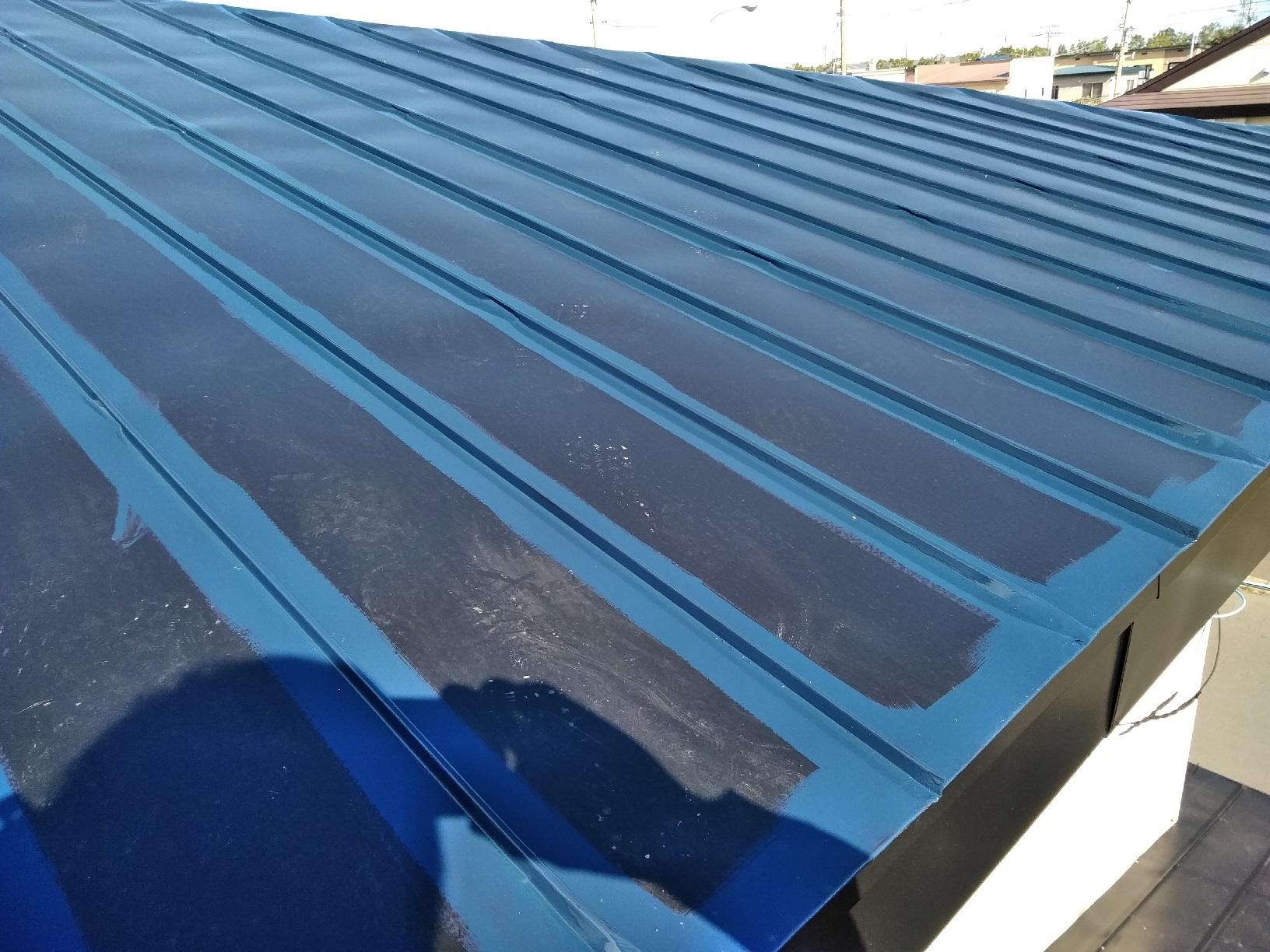 上屋根 上塗り1