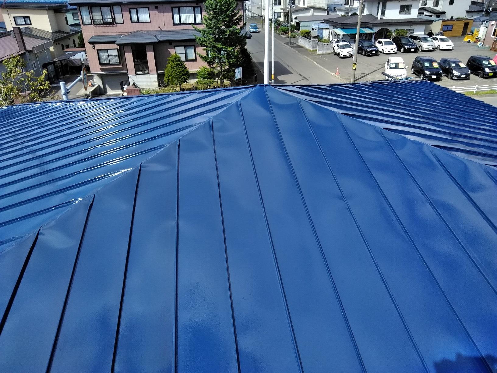 上屋根 上塗り2