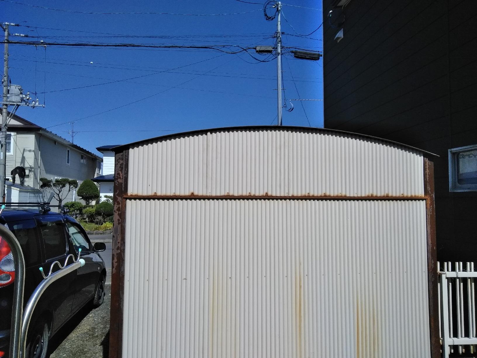 車庫トタン 補修