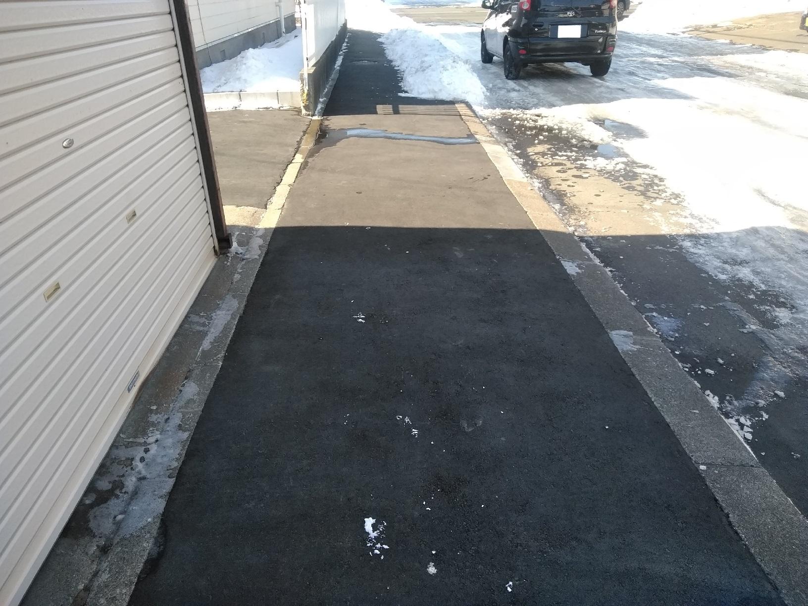 敷地前歩道改修工事 完成後