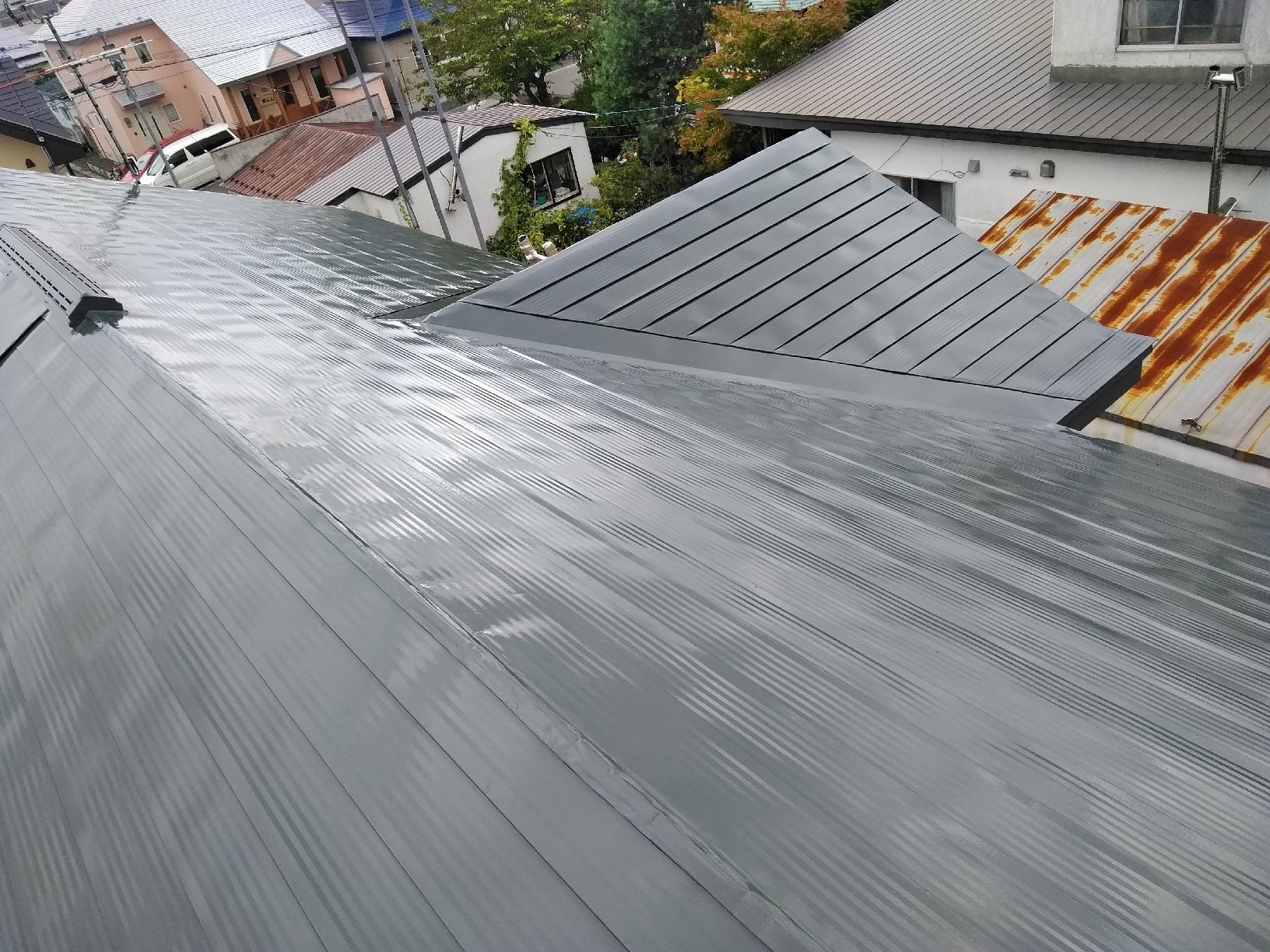 屋根・破風 上塗り6