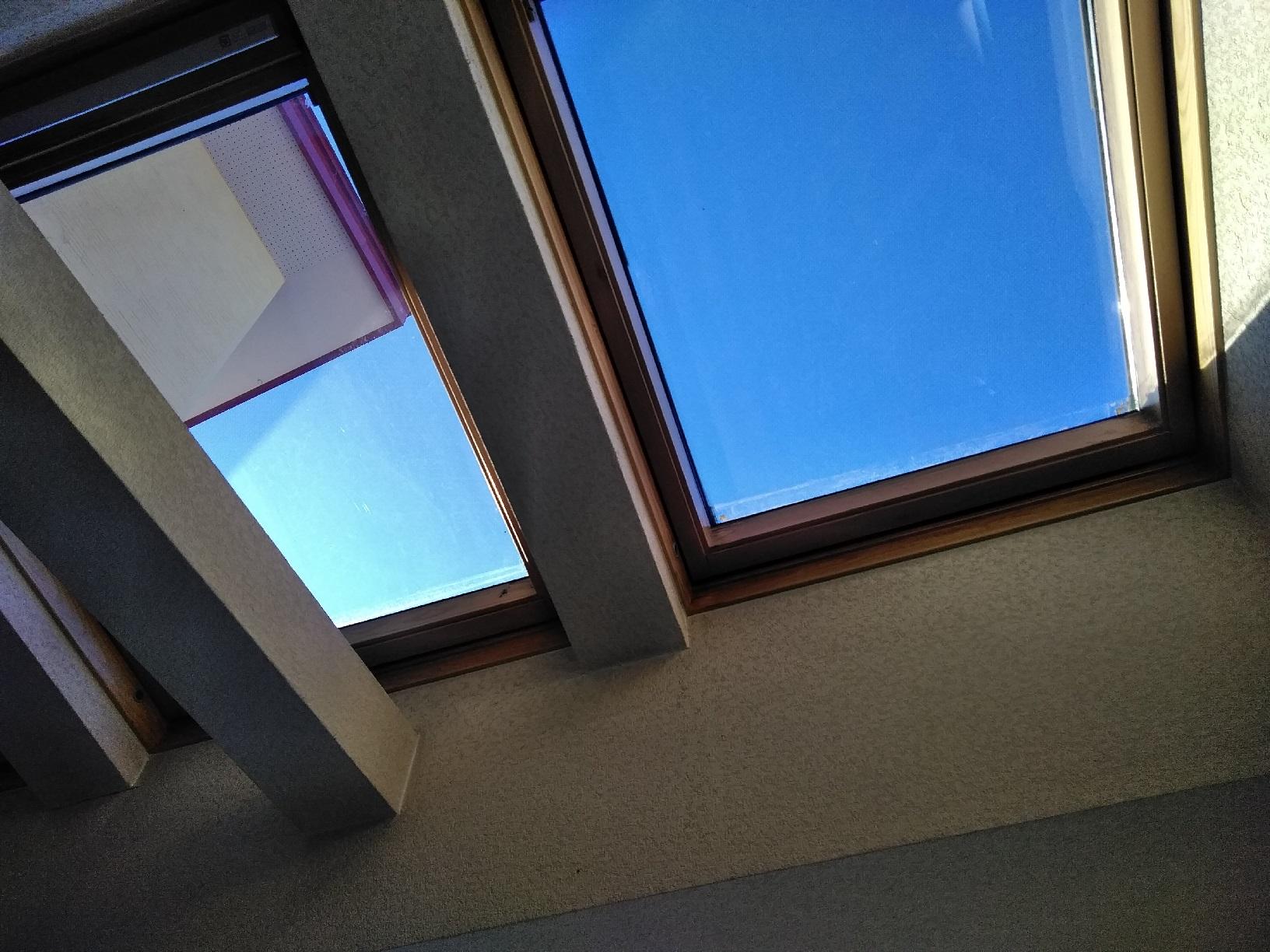 天窓木枠 仕上がり