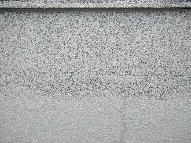 春採K様邸 外壁タイル吹付2