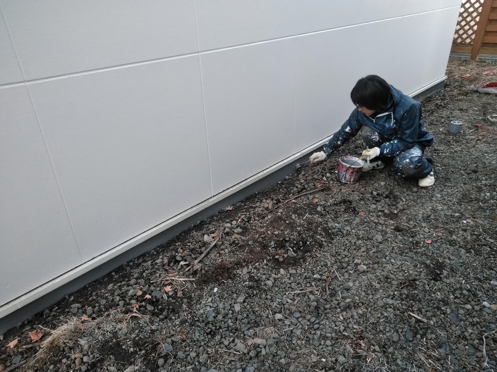 昭和店舗 基礎塗装1
