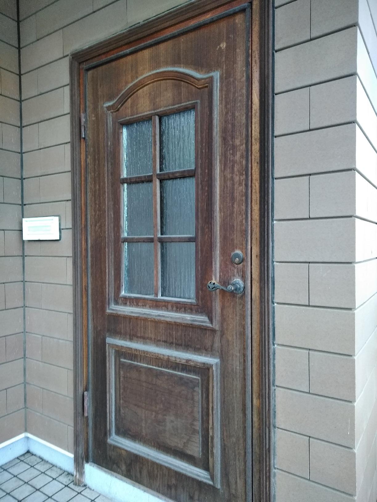 昭和M様貸家 玄関ドア 施工前