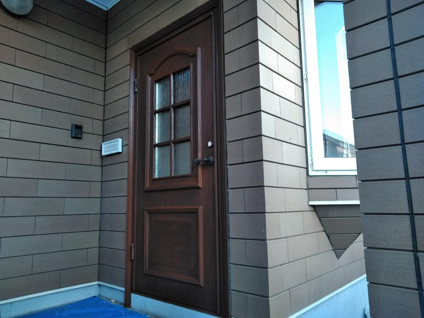 昭和M様貸家 玄関ドア 上塗1