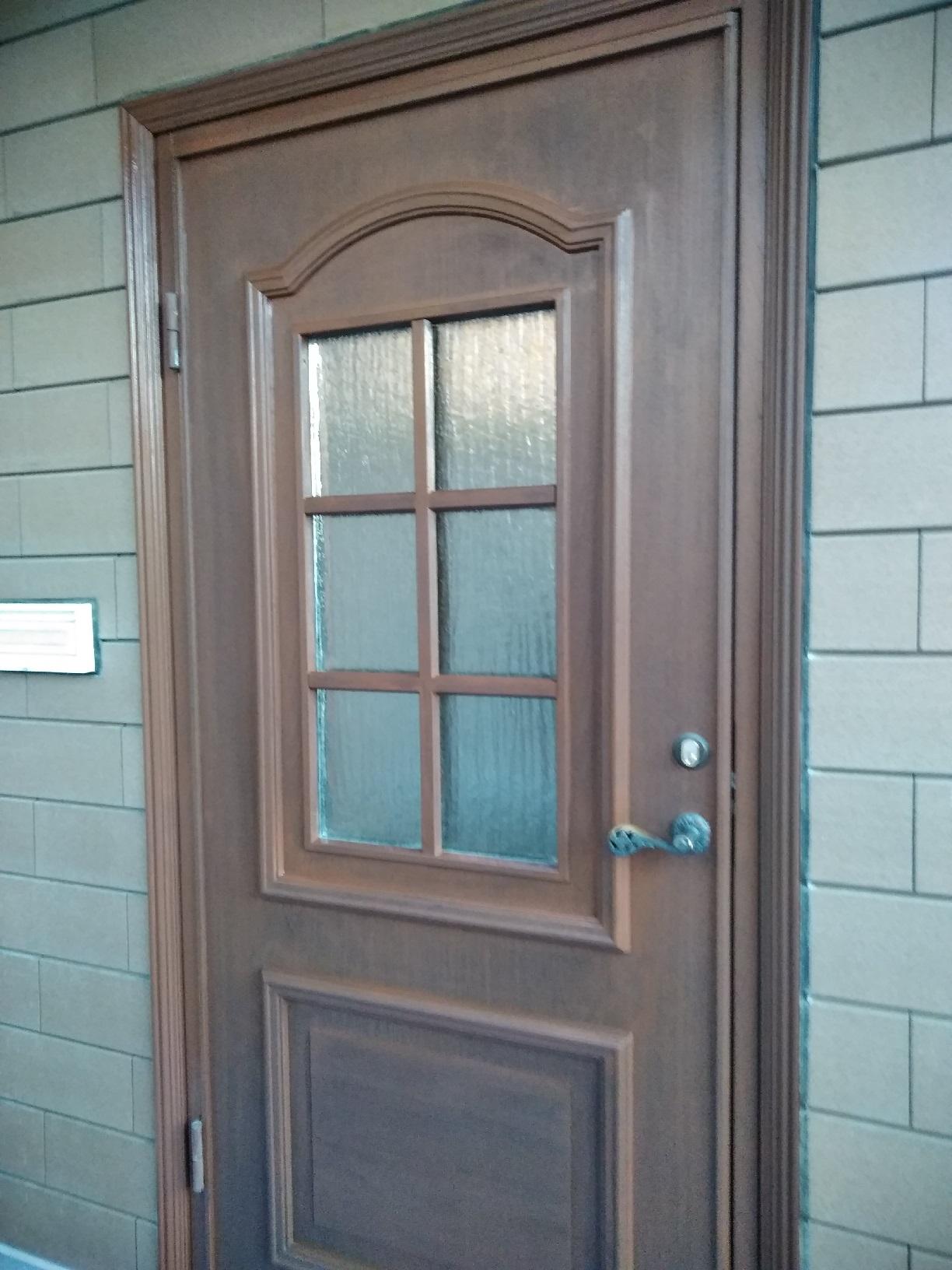 昭和M様貸家 玄関ドア 上塗3