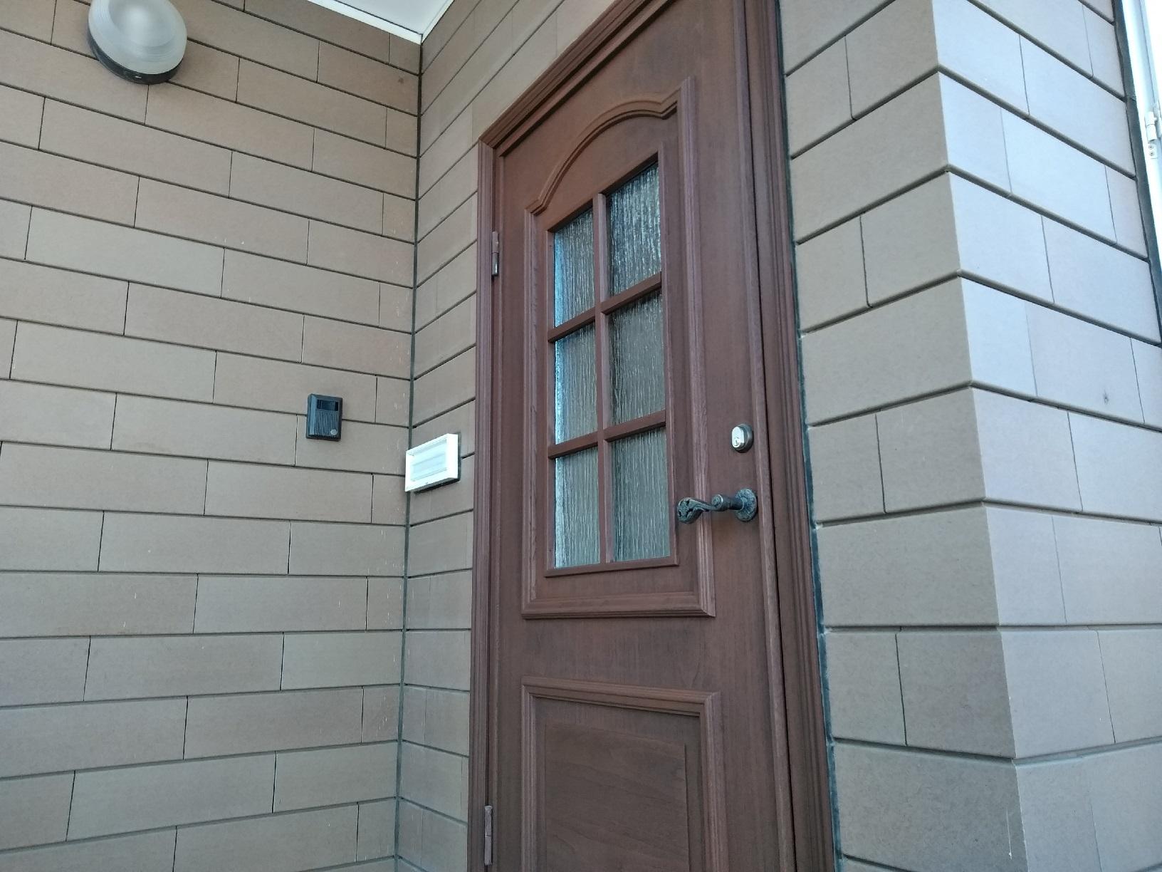 昭和M様貸家 玄関ドア 上塗5