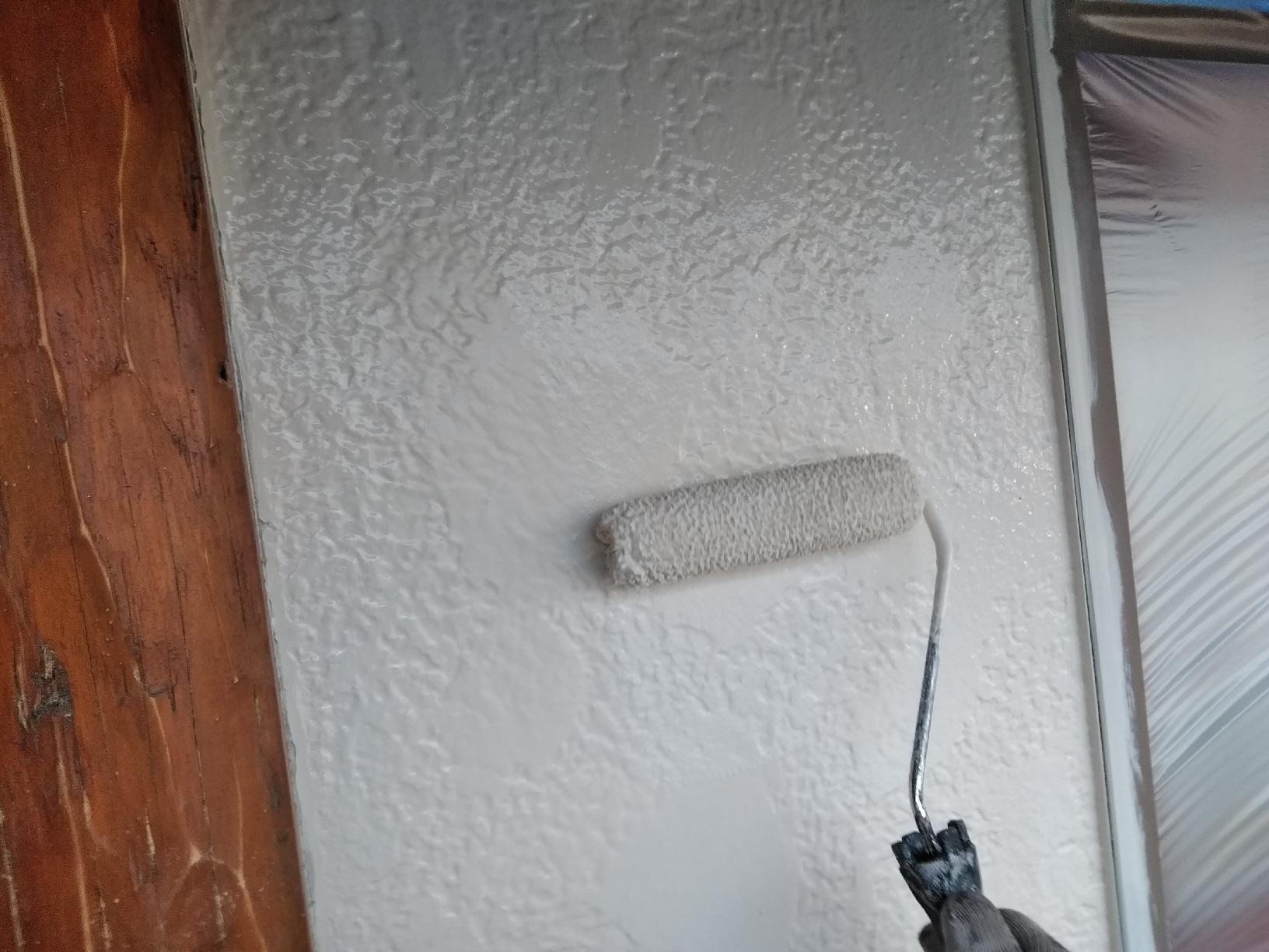 弟子屈Y様邸 外壁 上塗・仕上げ1