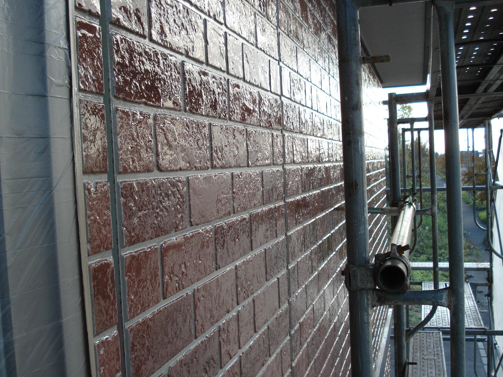 昭和メゾンドショード 外壁 上塗3