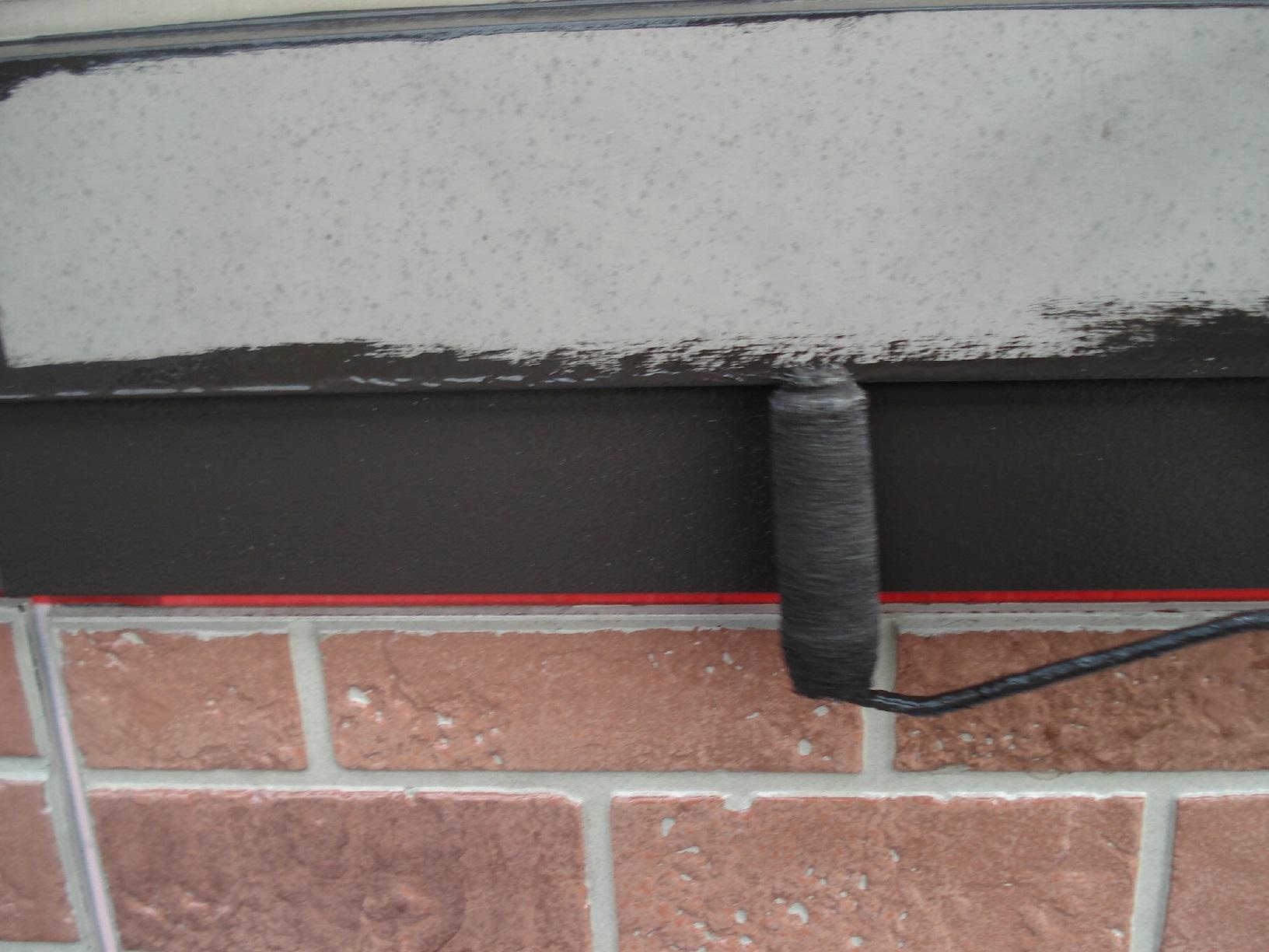 昭和メゾンドショード 外壁帯 上塗3