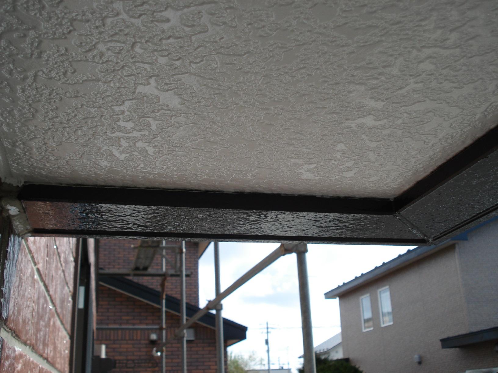 昭和メゾンドショード 外壁帯 上塗9