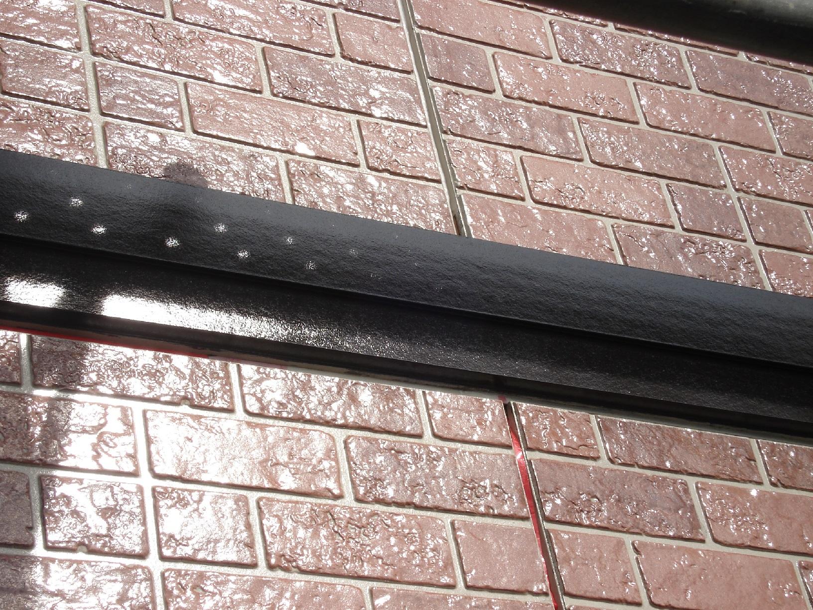 昭和メゾンドショード 外壁帯 上塗11