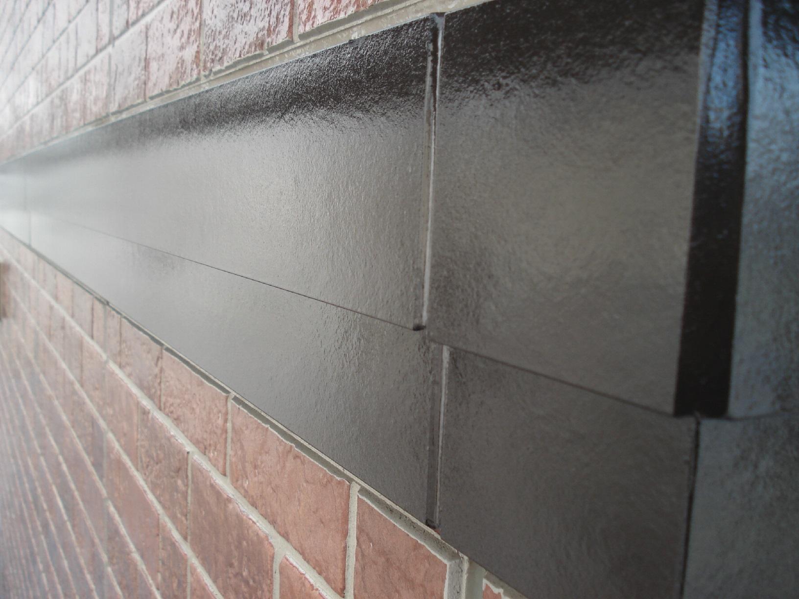 昭和メゾンドショード 外壁帯 上塗12