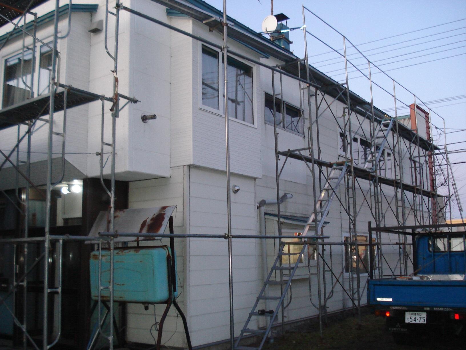 鳥取H様邸 足場組み1