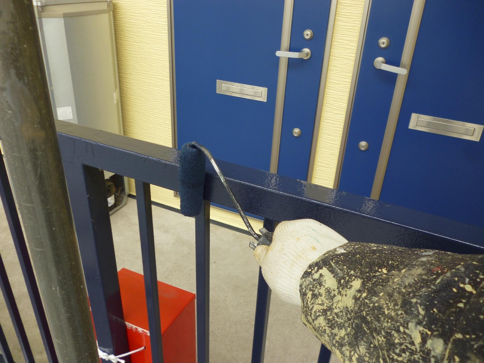 昭和トリビュート 鉄骨階段 再塗装2