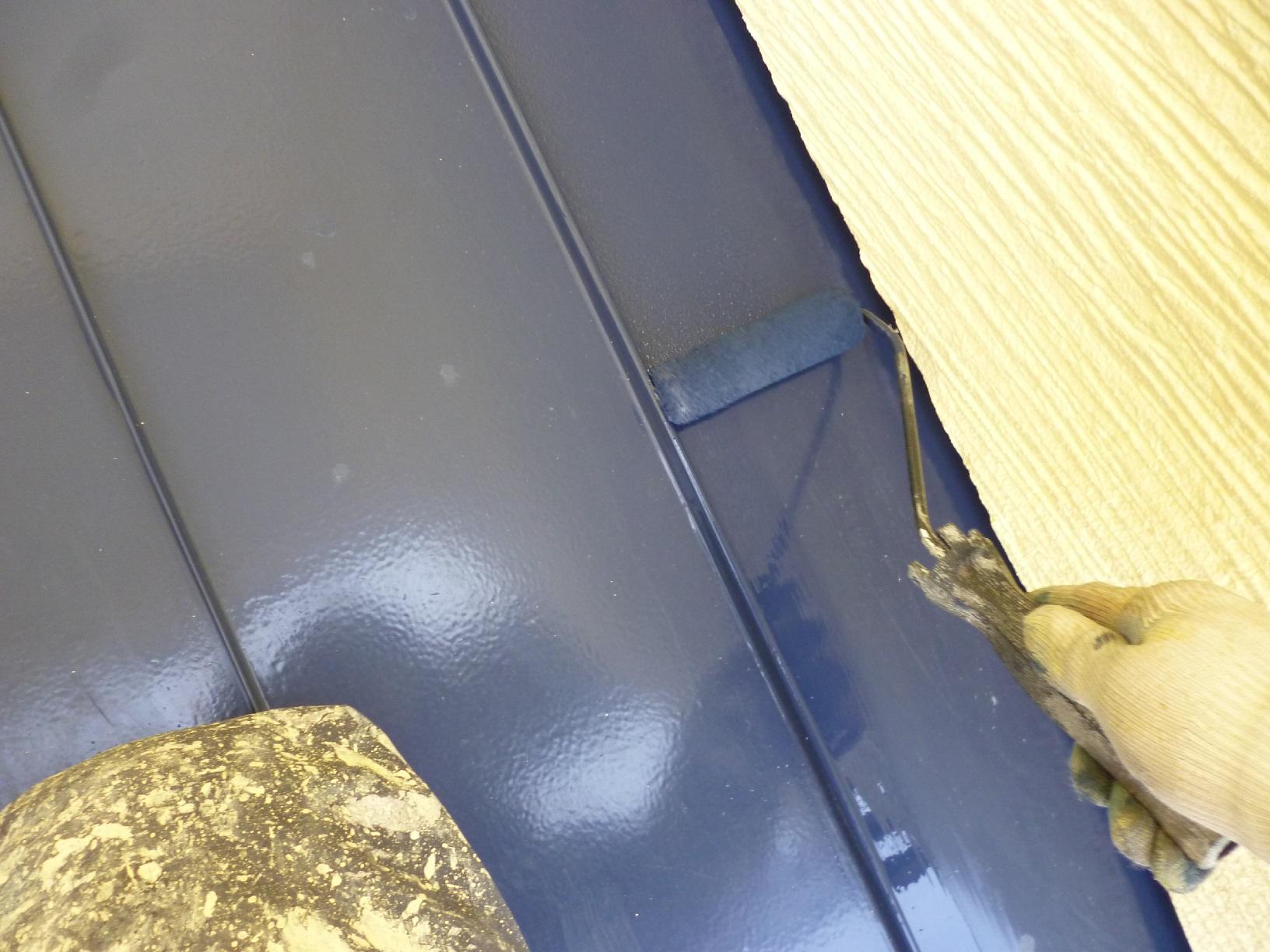 昭和トリビュート 物置屋根 再塗装2