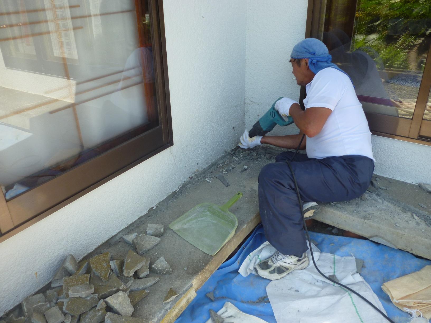 河畔S様邸 基礎・土間補修 下処理2