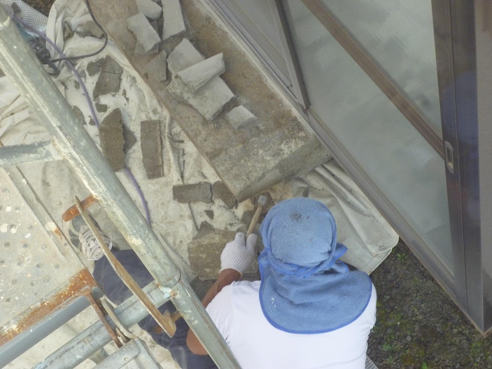 河畔S様邸 基礎・土間補修 下処理3