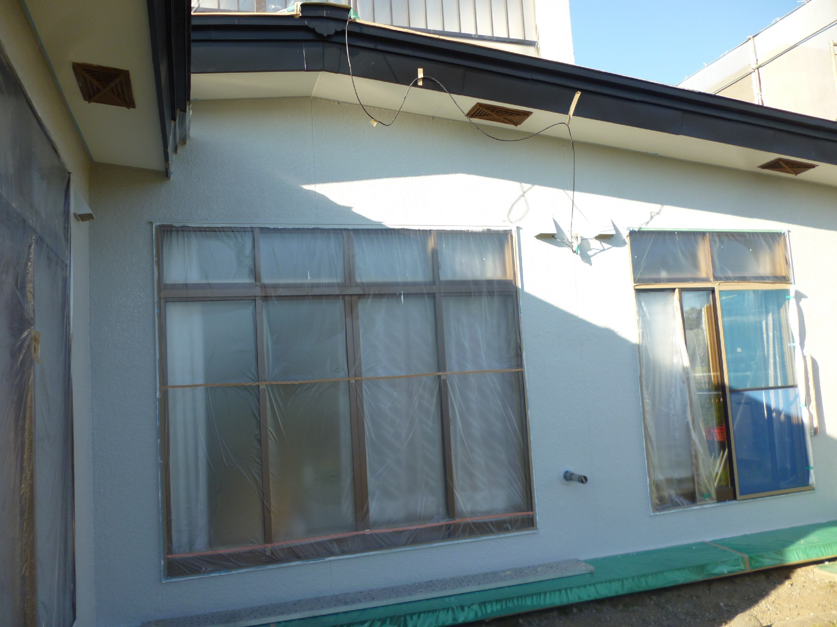 河畔S様邸 外壁 下塗8