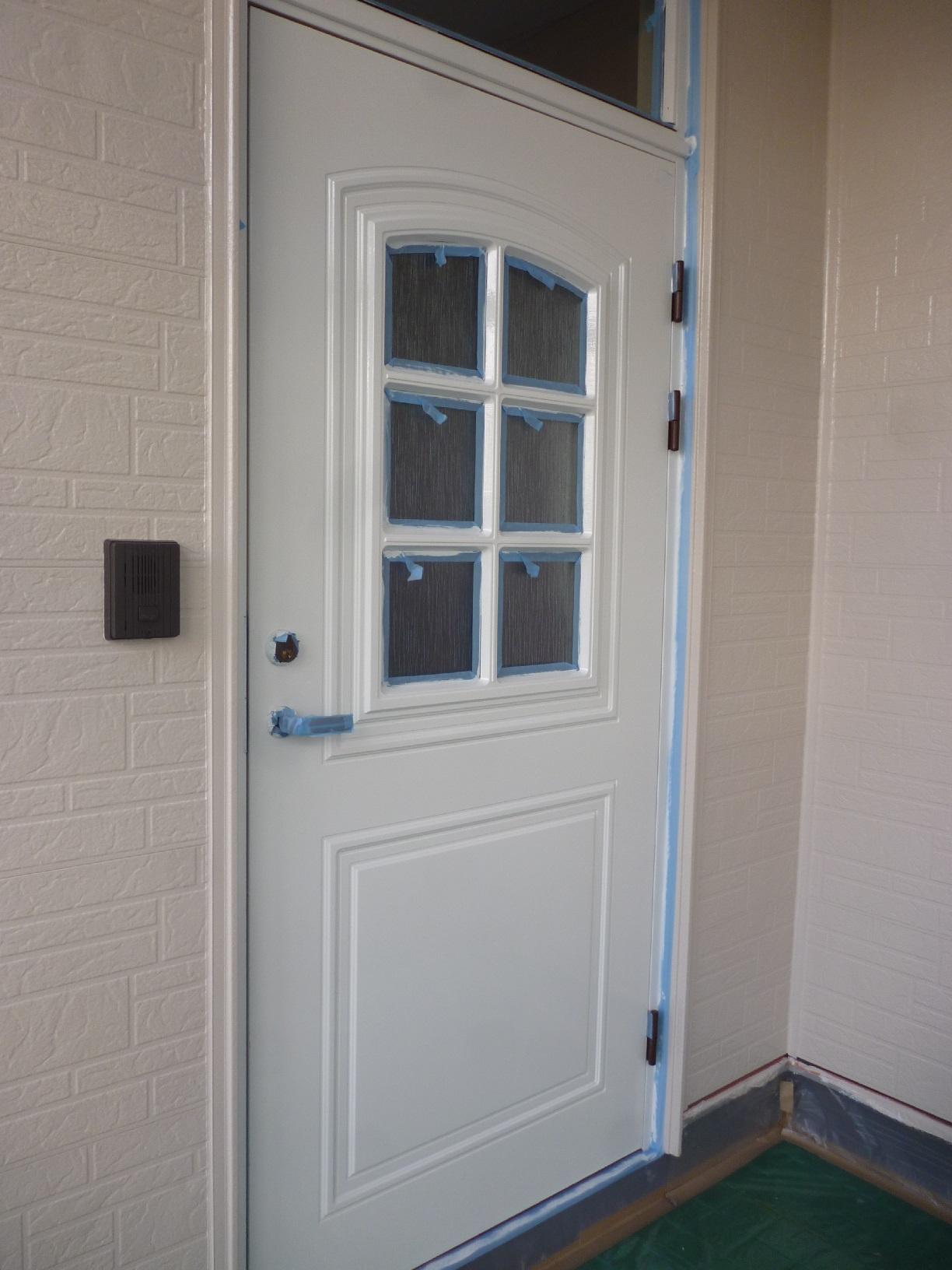 文苑N様邸 玄関ドア 下塗3
