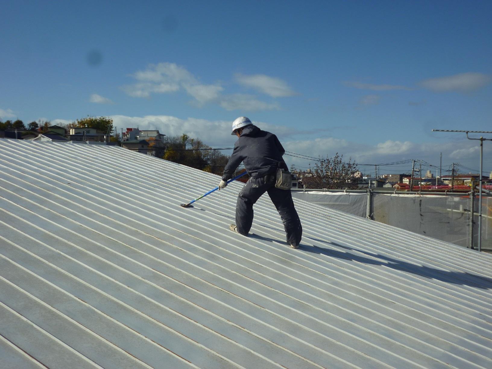 貝塚コーポサンライト 屋根 下処理1