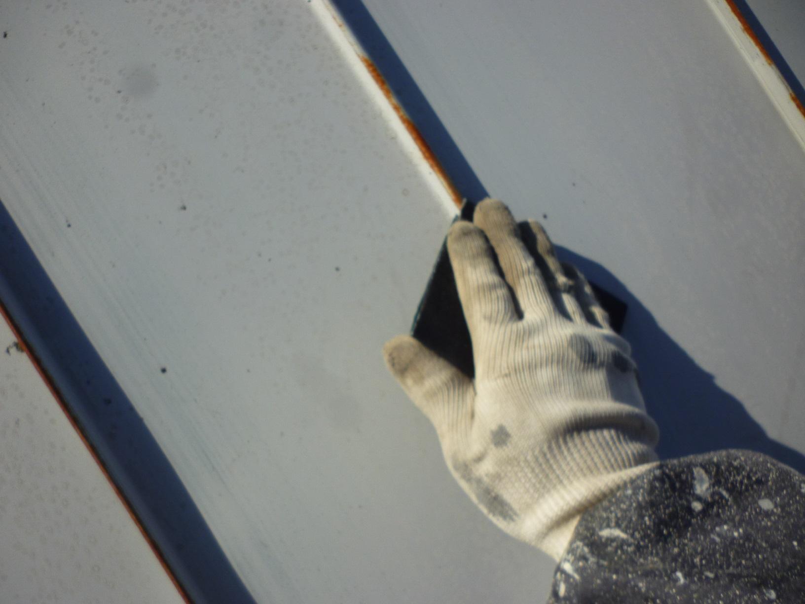 貝塚コーポサンライト 屋根 下処理3