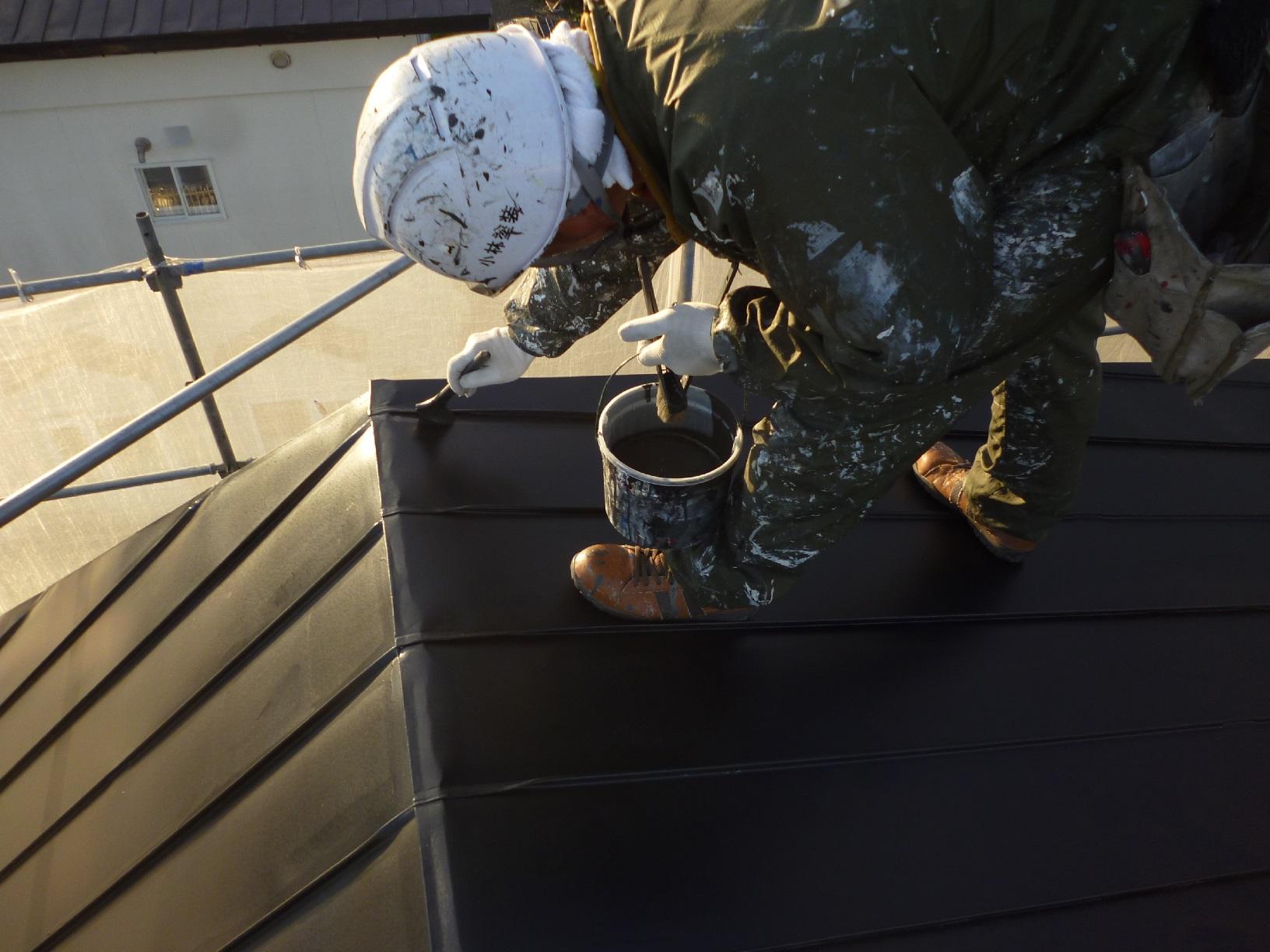 貝塚コーポサンライト 屋根 上塗1