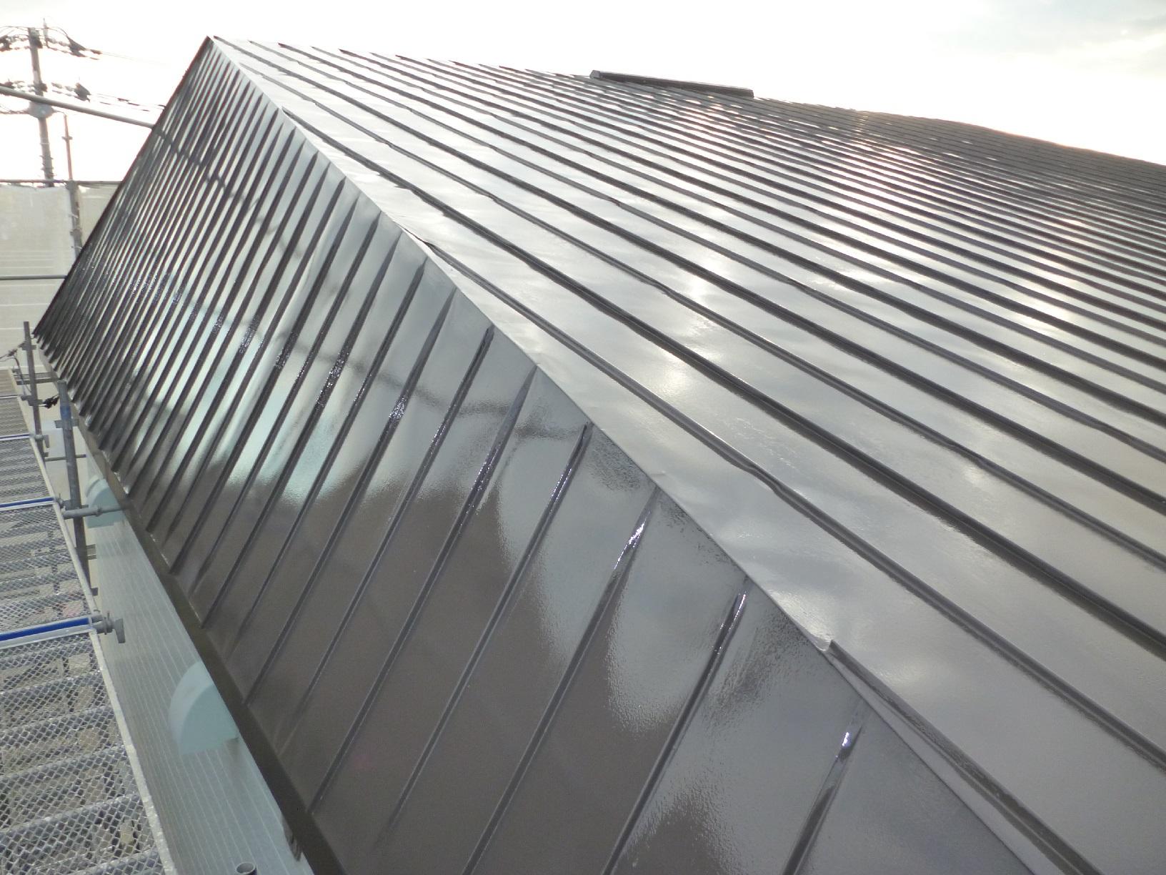 貝塚コーポサンライト 屋根 上塗5