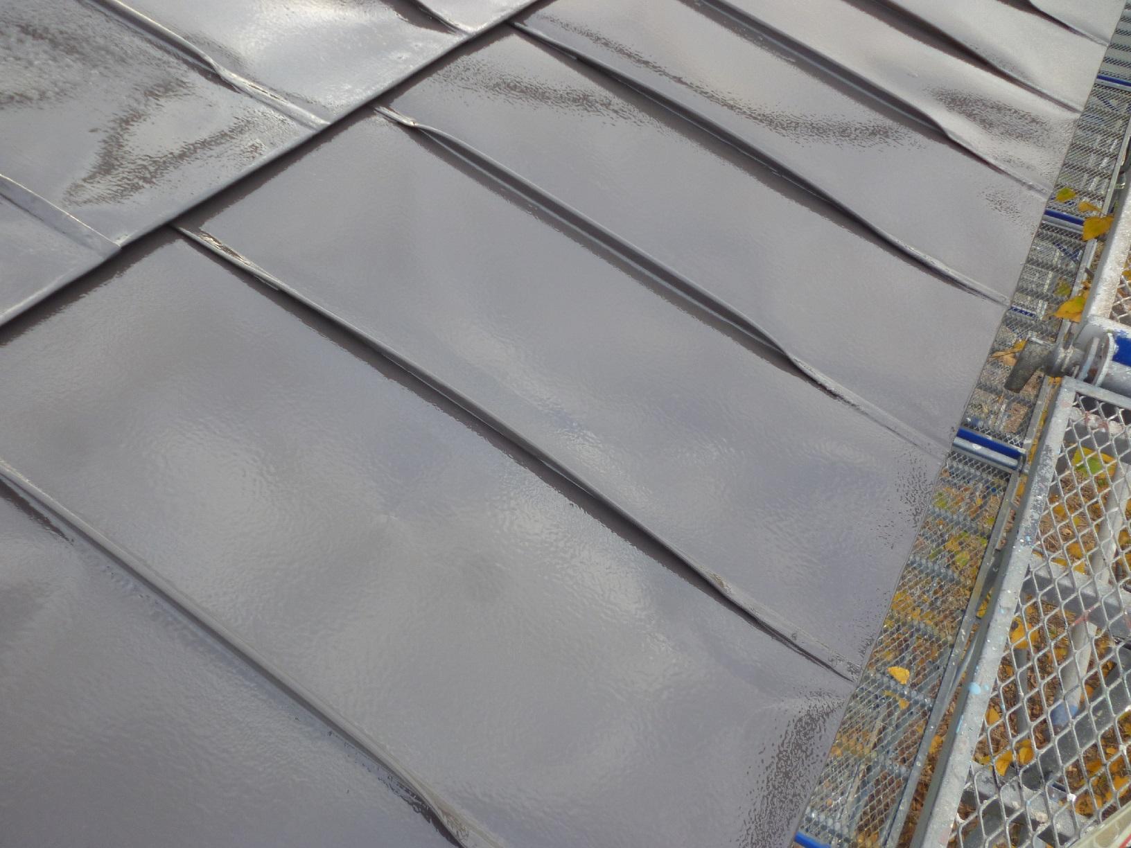 貝塚コーポサンライト 屋根 上塗6
