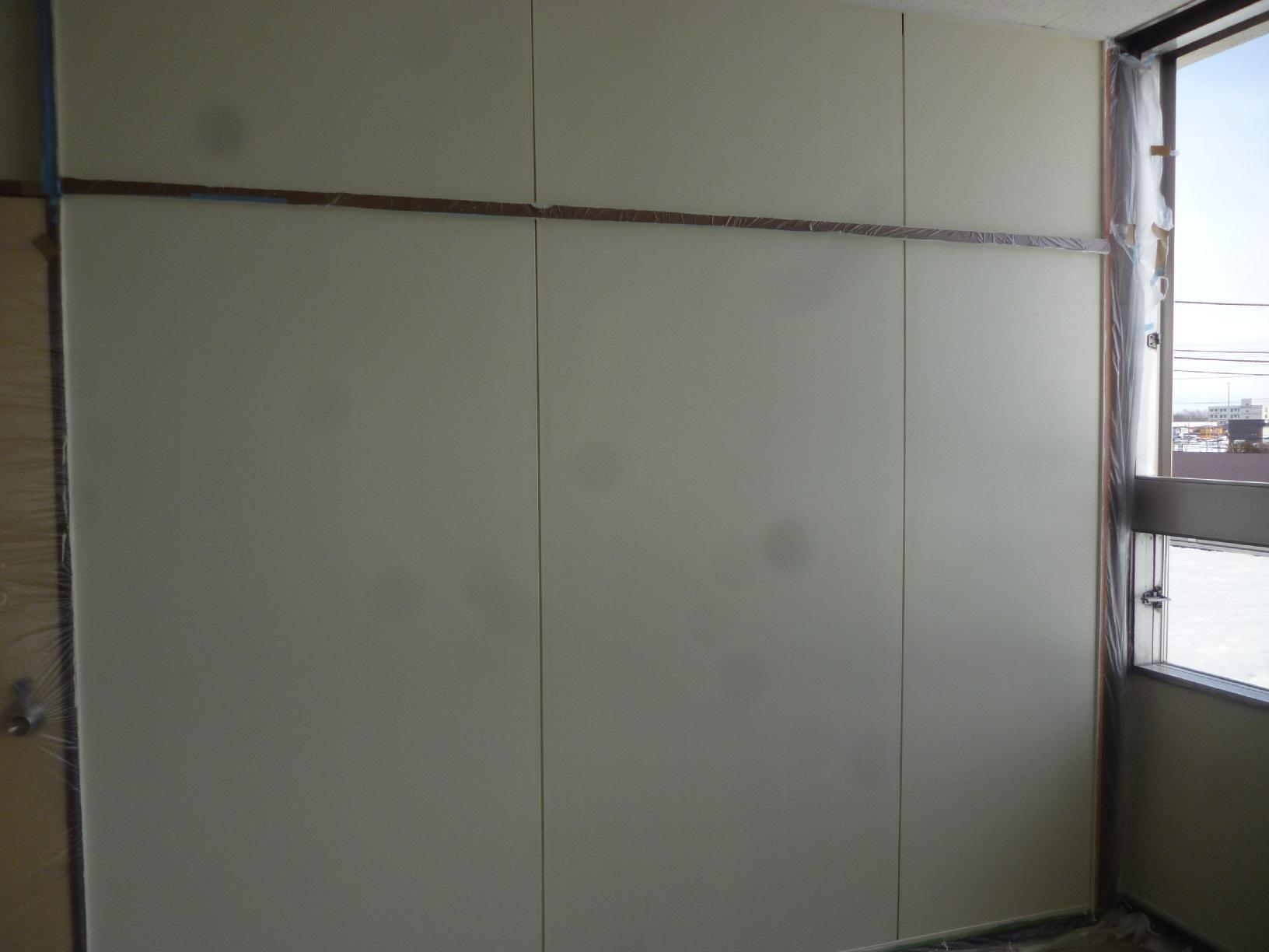 丸中青果 会議室  壁 仕上げ7