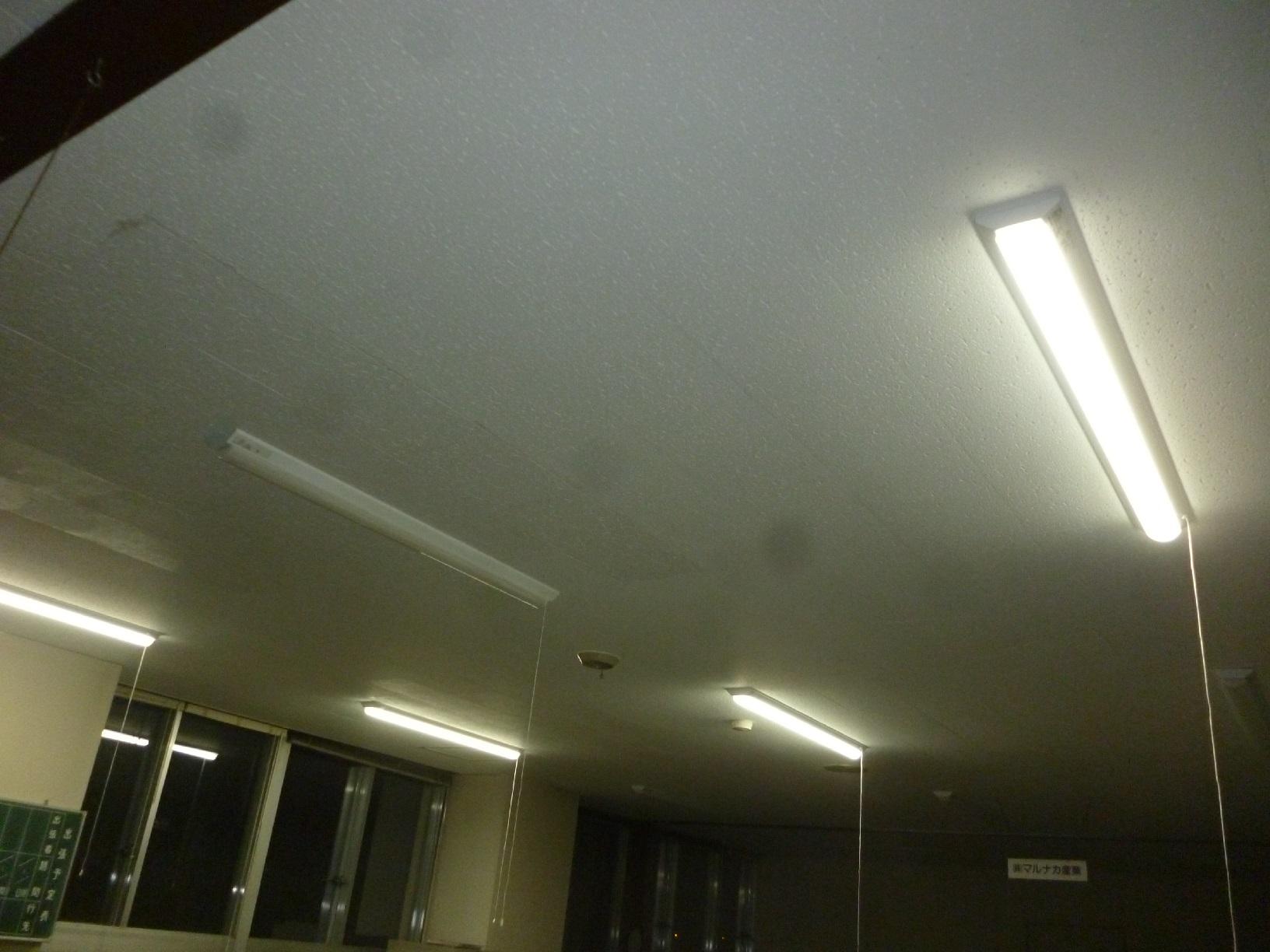 丸中青果 事務所 天井塗装3