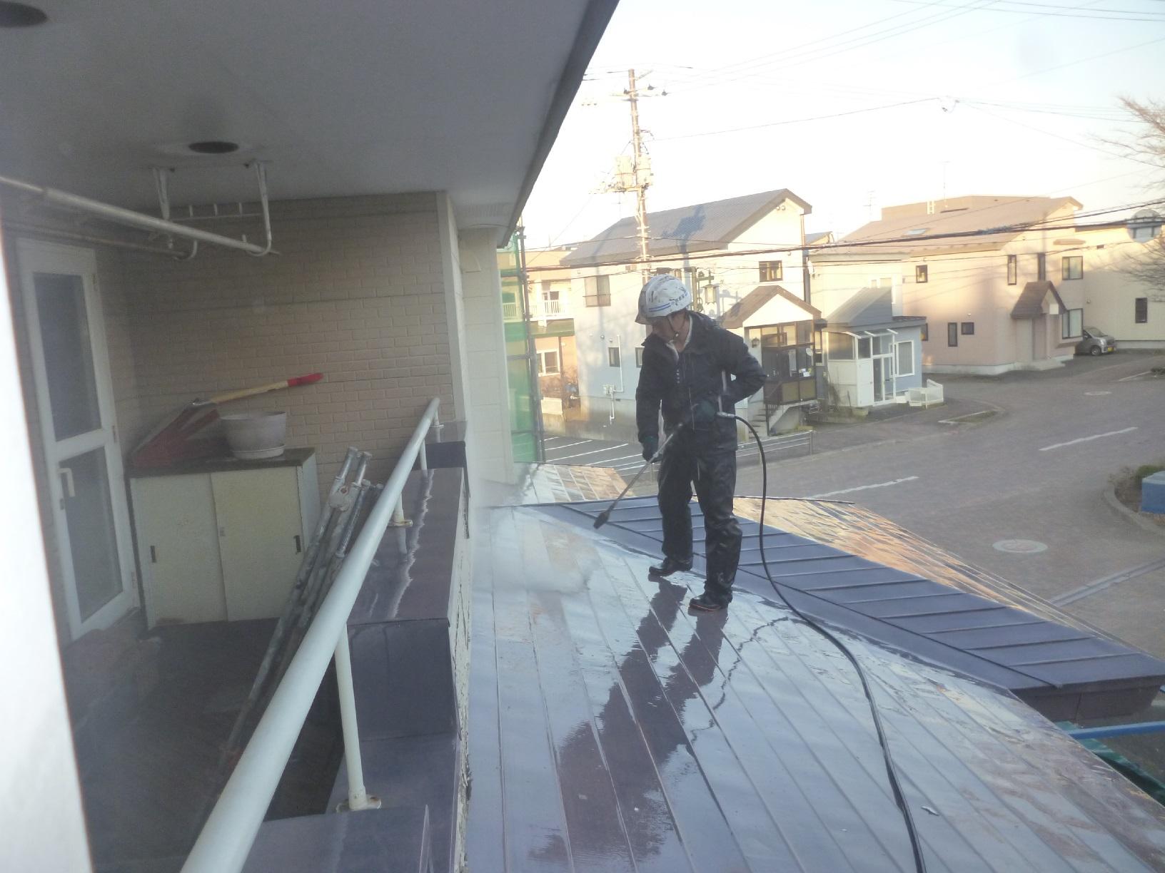 米町モンクール 高圧洗浄4