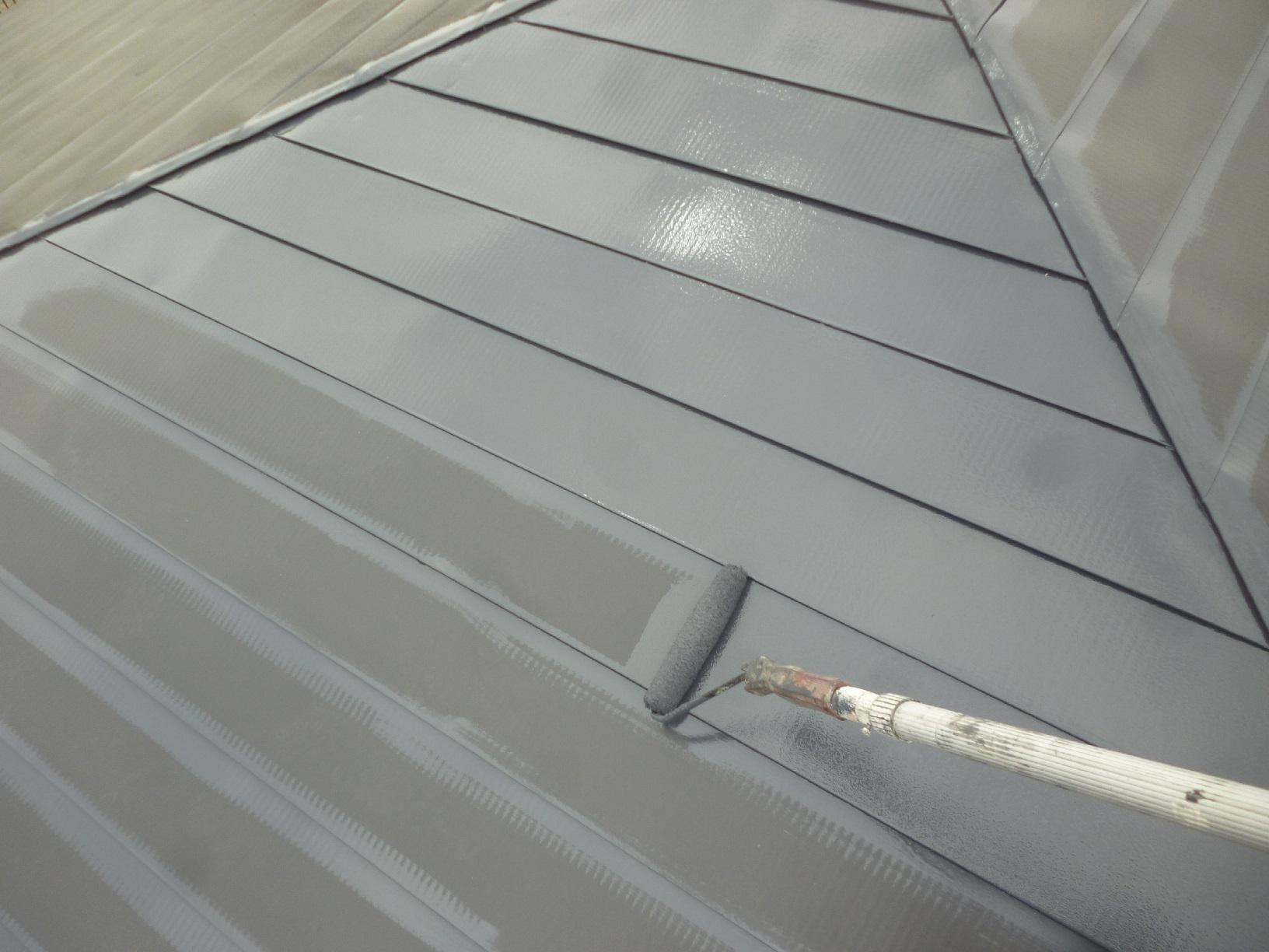 米町モンクール 屋根 上塗4