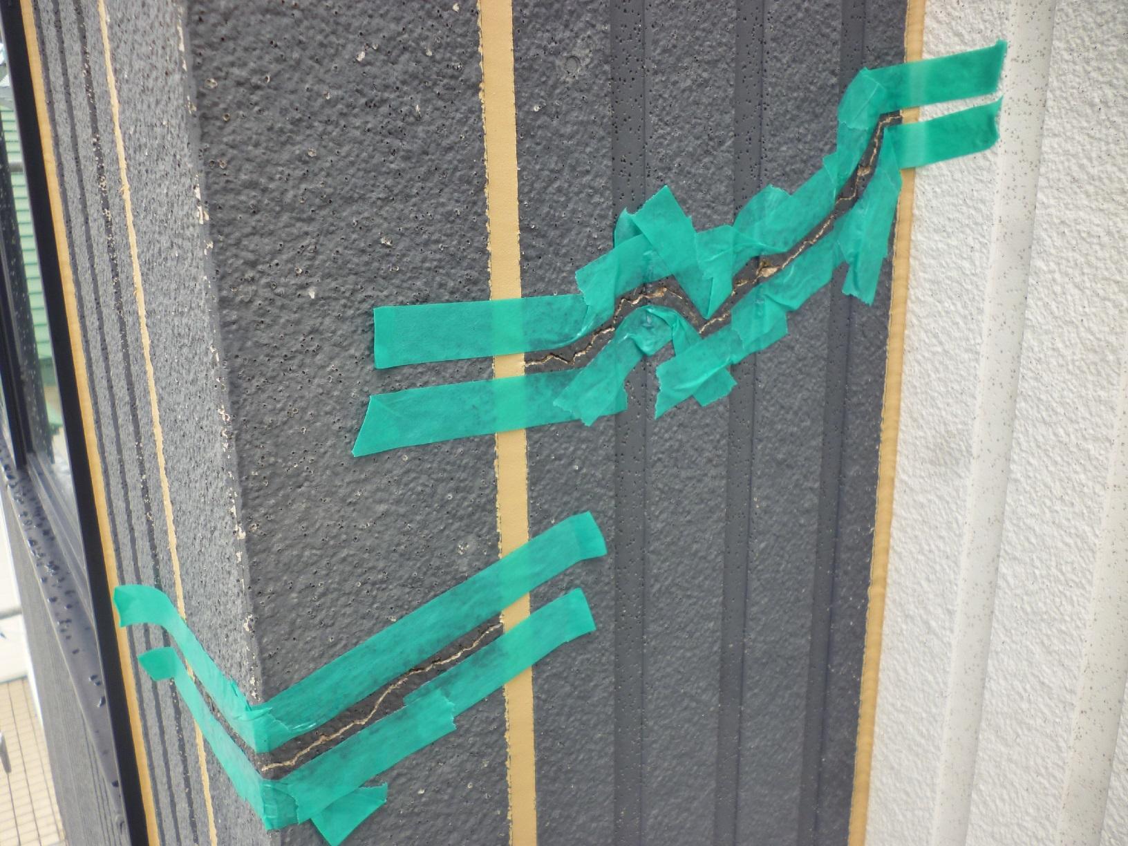 北都K様邸 外壁 パテ処理2
