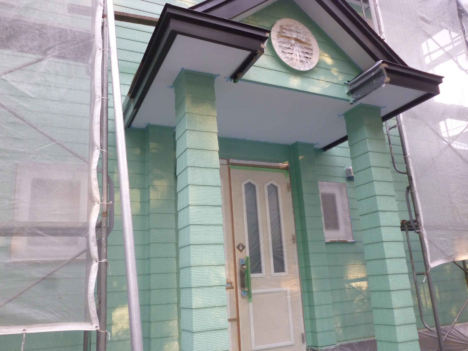 幌呂Y様邸 外壁 中塗11